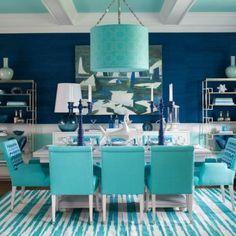 Swimming pool blue decor