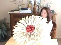 How To Make Christmas Wreath From Old Books.    Posted by www.GoMadideas.com #GoMad