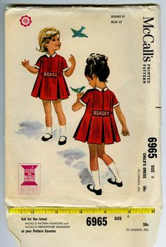 60's Childrens Pleated Dress by Helen Lee