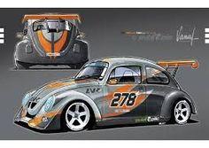 Resultado de imagen para vw fun cup Vw Super Beetle, Beetle Car, Ferdinand Porsche, Vw Bus, Vw Racing, Vw Vintage, Fun Cup, Car Drawings, Car Wrap