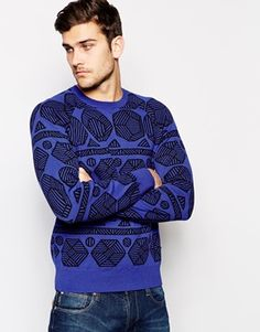 Paul Smith Jeans Jumper with Geometric Jaquard