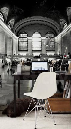 Wallpaper Sticker CENTRAL STATION by Sticky!!! Wallpaper Stickers, Central Station, Photo Wallpaper, Chair, Furniture, Home Decor, Decoration Home, Home Furnishings, Chairs