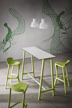 Mobilier bar hotel restaurant : tabourets de bar design Shiver - Sledge