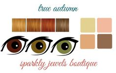 True/Warm Autumn color palette eyes, hair and skin