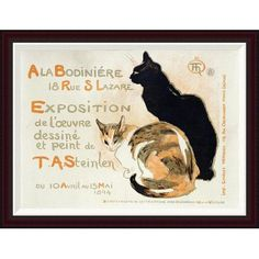 """Global Gallery A La Bodiniere by Theophile Steinlen Framed Painting Print Size: 25.78"""" H x 34"""" W"""