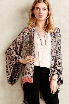 Claudette Fringed Kimono anthropologie.com #anthrofave