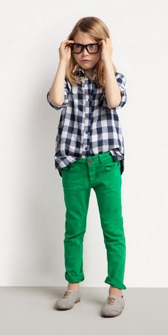 gingham + kelly green pants     (it'll still work even though i'm not 9 years old, right?)