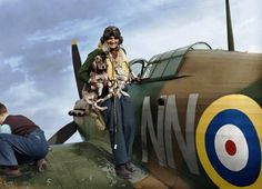 C: Sergeant Bohumír Fürst of No. 310 (Czechoslovak) Squadron is greeted by the squadron mascot on returning to RAF Duxford after a sortie in his Hawker Hurricane Mk I Hurricane 'NN-D' September 1940 Navy Aircraft, Aircraft Photos, Ww2 Aircraft, Military Aircraft, Hawker Hurricane, Man Of War, Ww2 Planes, Battle Of Britain, Royal Air Force