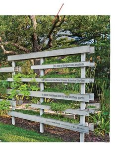 cute fence for plants and creeping vines
