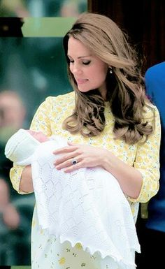 Kate with newborn daughter.  May 2nd 2015