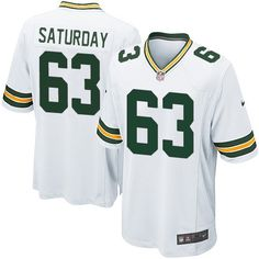 Nike Elite Green Bay Packers Jeff Saturday 63 White NFL Jersey for Sale Sale