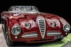 1946 Alfa Romeo 412 Spider Vignale Replica - Cars World Old Classic Cars, Classic Sports Cars, Maserati, Ferrari 458, Lamborghini Gallardo, Vintage Cars, Antique Cars, Carros Audi, Alfa Romeo Spider