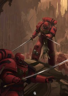 Warhammer 40k Blood Angels, Warhammer 40k Art, Warhammer Fantasy, Salamanders Space Marines, Knight Art, Military Art, Character Art, Fantasy Art, Concept Art