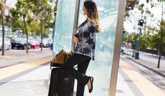 Betabrand Travel Yoga Pants waiting in transit