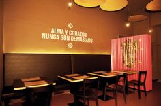 Alma Latina | mg2architetture - local - restaurant - commercial - interior design - graphic -
