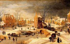 Pieter Brueghel, el Joven (1564 – 1638). Paisaje nevado. Museo del Prado