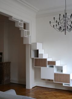 7 Terrific Modern Bookcase Ideas (High-Level Inspiration Who says the reading activity is lifeless? Diy Furniture, Furniture Design, Muebles Living, Interior And Exterior, Interior Design, Interior Trim, Modern Bookcase, Shelf Design, Storage Design