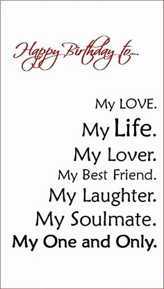 Birthday Message For Him, Romantic Birthday Wishes, Birthday Wish For Husband, Birthday Wishes For Boyfriend, Happy Birthday My Love, Birthday Messages, Happy Birthday Cards, Birthday Gifts, Sister Birthday