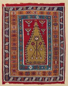 Erzerum Prayer Kilim North Anatolia, 19th C