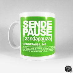 Becher & Tassen - Phonetic Tasse Sendepause, die - ein Designerstück von FUNI-SMART-ART bei DaWanda