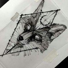 Tatoo raposa M Tattoos, Wolf Tattoos, Flower Tattoos, Body Art Tattoos, Tattoo Sketches, Tattoo Drawings, Fox Tattoo Design, Tattoo Designs, Fuchs Tattoo