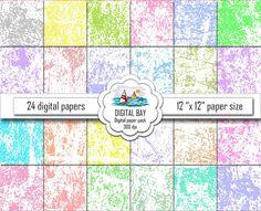 GRUNGE  Digital paper pack  Instant download  by DigitalBay