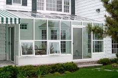 Vinyl windows ($300 to $800) never need painting on the inside or out. They're economical, come in white and a handful of other colors, and look good on a simple home. For an upscale house, though, vinyl can look a bit incongruous.  Wood windows ($400 to $1,000) offer a traditional, high-end appearance and can be painted to match the interior and exterior trim of your sunroom.  Clad windows ($500 to $1,200) are made from wood but are covered with vinyl or aluminum on the outside. That…