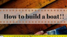 How to build a boat | How to build a small boat |  Wooden boat building ...