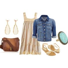 Summer dress with jean jacket