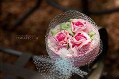 La vie en rose. Couture pillbox hat.