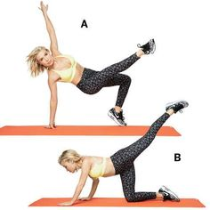 These ab exercises from Tracy Anderson can help whittle your waist by targeting your transverse abdominis, the deep core muscle that wraps around the entire belly. Strengthening this muscle will also help protect your lower back.