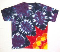 Tie Dye Shirt Midnight Sun TShirt Ready to Ship by tiedyedmonkeys, $24.98