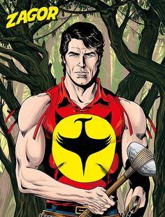 Fantastiche immagini su zagor nel comics art e
