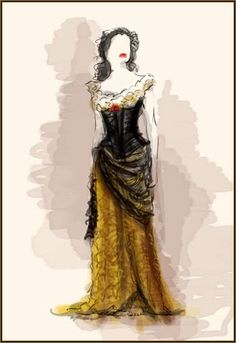 Emmy Rossum`s costume as Christine Daae in movie Phantom of the Opera