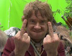 Bilbo Baggins flipping the Bird - http://www.dravenstales.ch/bilbo-baggins-flipping-the-bird/