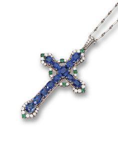 sapphire cross pendant - Pesquisa Google