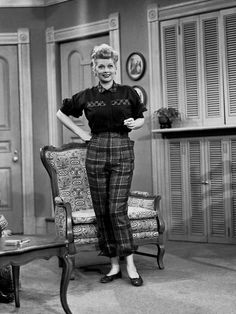 Lucille Ball on the set of 'I Love Lucy'.