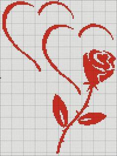 Coeur et rose
