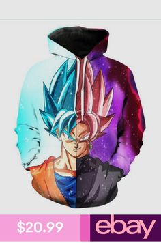 1094a8795c29 PLstar Cosmos handsome Goku Hoodies Men Women Funny Anime Dragon Ball Z  Super Saiyan print Hoodie Pocket Hooded Sweatshirts