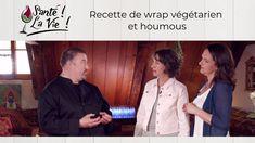 Recette de wrap végétarien et houmous Ayurveda, Chef Jackets, Hummus, Natural Health, Recipe