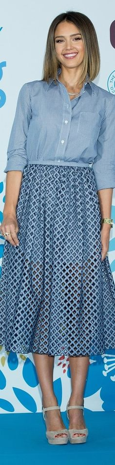 Jessica Alba In Michael Kors – 'Coupang' Press Conference
