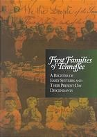 First Families of Tennessee ~ find a copy. and find my families... Rose, Scott, Belew, and more...