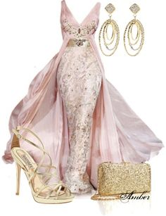 """Pink & Gold Glamour"" by stay-at-home-mom on Polyvore"