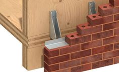Terracotta fastening system / for facade cladding CLT Ancon Building Products