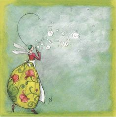 Gaelle Boissonnard Friendship Love Fairy Any Occasion Card GB - South Hollow Gallery Leapenhi Paper Marie Cardouat, Art Fantaisiste, Art Carte, Art Moderne, People Art, Children's Book Illustration, Whimsical Art, Figure Painting, Beautiful Paintings