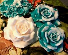 Silicone Rose Mold Soap Candle Mold Small by catfishcreekcandles,