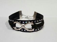 Bracelet Noir Infini EloDie Bijoux