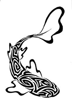 Koi Fish Discover Tribal fish by fensterfisch on DeviantArt Tribal Images, Tribal Art, Stencil Patterns, Stencil Designs, Pisces Tattoos, Tribal Tattoos, Doodles Zentangles, Boat Drawing, Spoon Art
