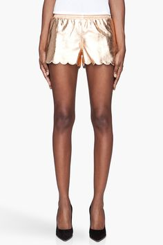 VERSUS //  GOLD LEATHER TAP SHORTS