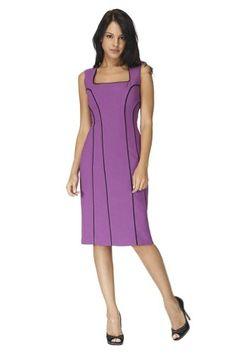 Black Halo Women's Kinya Dress 6 Hyacinth/Black Crepe suiting. Shell: 99% Polyester/ 1% Spandex. Lining: 95% Polyester/ 5% Spandex.  #Black_Halo #Apparel